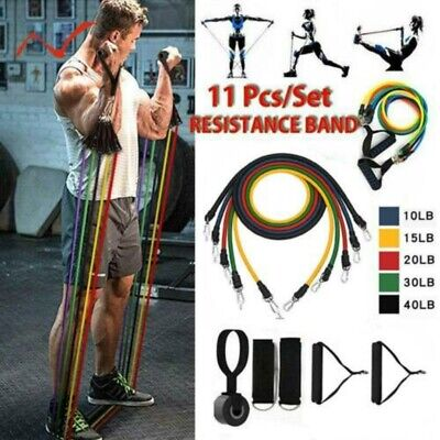 11pcs/set Pull Rope Exercises Fitness Resistance Bands Set Expander Latex Tubes