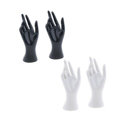 2pairs Mannequin Hand Jewelry Ring Bracelet Display Holder Stand Rack