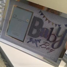 Baby boy photo frame