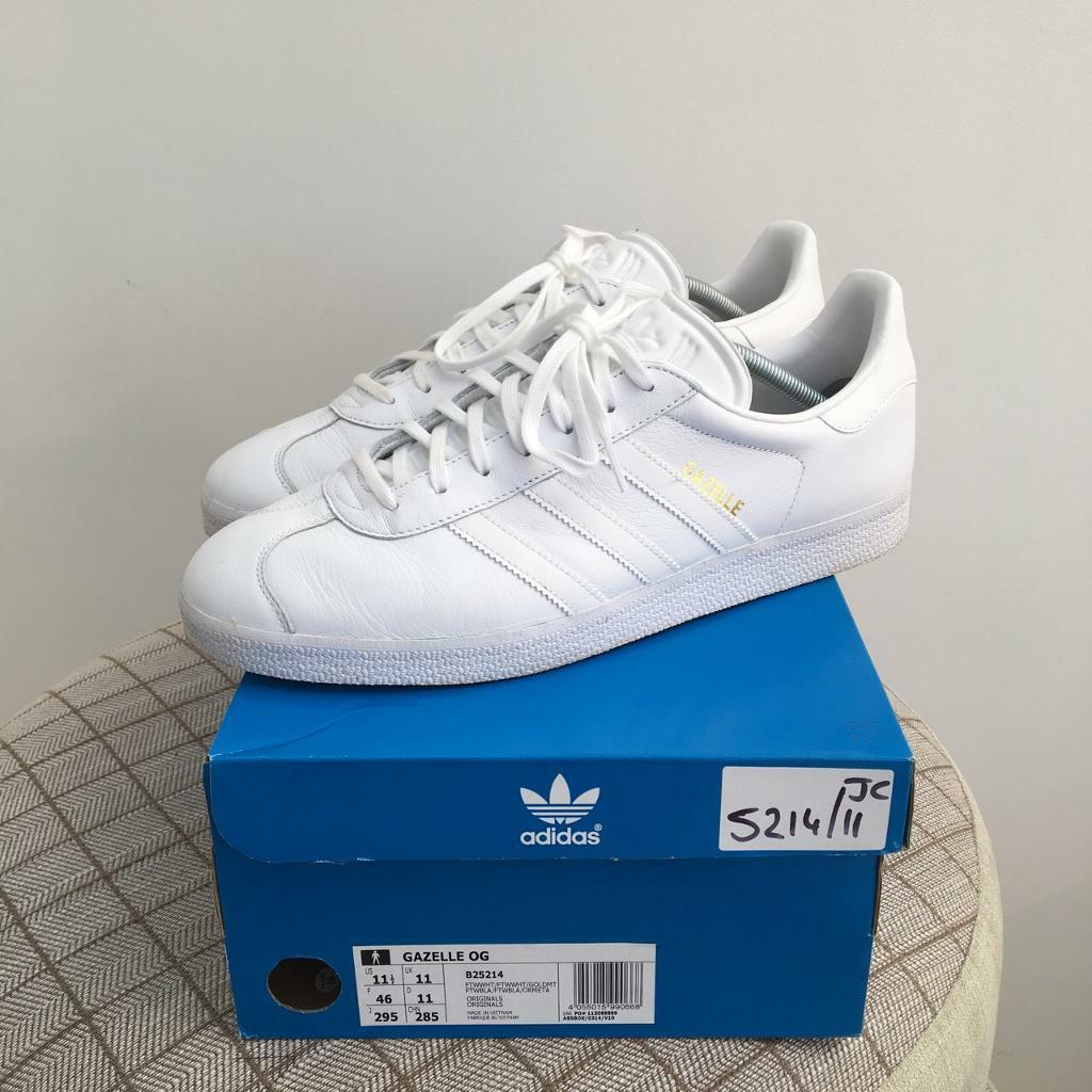 Adidas Gazelle hombre Triple White Trainers Trainers para hombre Gazelle | f2b808e - rogvitaminer.website
