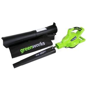 GreenWorks 24312 G-MAX 40V 185MPH Variable Speed Cordless Blower/Vac, Battery and Charger Not Included