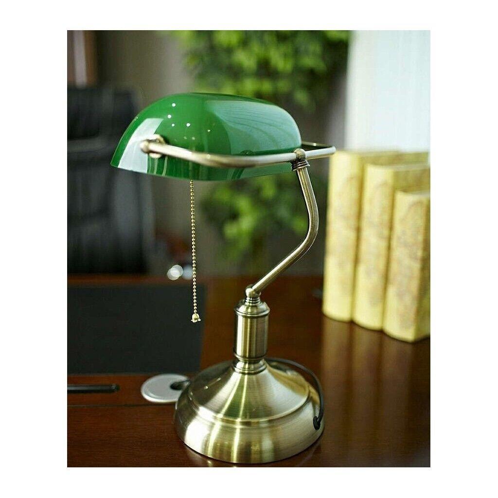 Lampada per scrivania da tavolo da ufficio o studio Banchiere Ministeriale Verde