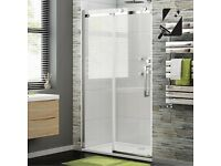 1200mm - 8mm - Luxe Frameless EasyClean Sliding Shower Door ( half price ) brand new unit.