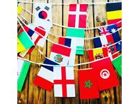 World cup decoration Bunting flags Royal Mail 1st class delivery!!