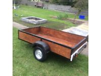 Trailer 7x4 with tail gate and lights