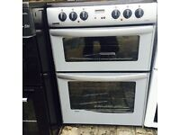Grey/silver New world 60cm ELECTRIC COOKER, 4 MONTHS WARRANTY, FREE LOCAL DELIVERY
