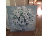 Lovely floral canvas from Dumelm moving house and changing colour scheme forces sale.