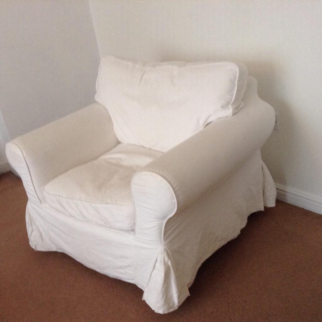 Ikea Armchair Ektorp Range With White Covers In Stoke