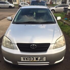 Toyota Corolla 1.4 VVT-i T3 5dr - 72k Mileage, 3 owners from new, 10 months MOT, good condition.