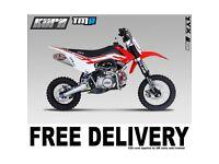 KURZ TMR 140cc Off Road Pit Bike 83cm seat height pitbike, Not Road Legal