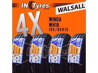 4x 195/65R15 BUDGET Tyres 195 65 15 Tyres Fitting Available x4