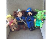 Four Fiesta Puppets