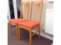 Pair of Rennie Mackintosh style chairs, local delivery possible