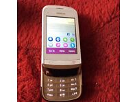 Nokia C2-02 slide mobile phone white unlocked good con