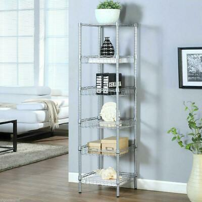 6 Tier Layer Shelving Rack Adjustable Shelf Storage Kitchen Home Standing
