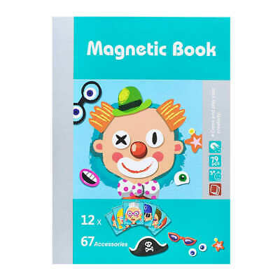 Magnetic Book Character Face Change Toy Set](Magnetic Face Toy)