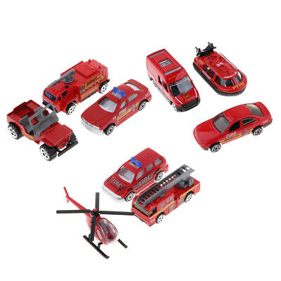 1:64 Alloy Diecast Toy Fire Truck Helicopter Model for Boys Girls Best