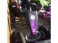 2 seater go kart needs a new back wheel and front wheel
