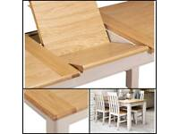 Marks & Spencer PADSTOW Extendable dining table in natural oak top (NEW)