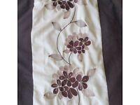 Cream/Brown Fully Lined Curtains