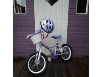 Apollo Petal Girls Bicycle 4-6 yr old with matching helmet