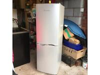 5FT SILVER SLIMLINE FRIDGE FREEZER EX CON AND FULL WORKING £69 CAN BE SEEN WORKING