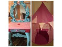 Frozen dressing table & princess tent