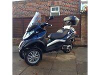 Piaggio Mp3 300 cc full mot 3000 miles 2011 genuine reason for sale, £3250. Clean condition garaged
