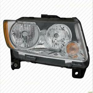 Headlight Passenger Side Code Lmb Without Black Trim Without Leveling Jeep Compass 2011-2013