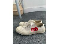 CDG Low Top in off white sneakers (Size 8 UK)
