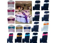 BUY LYCRA SPANDEX CHAIR BAND WITH BUCKLE FOR CHAIR COVER - BRAND NEW £45 for 100pcs & Next Day Post