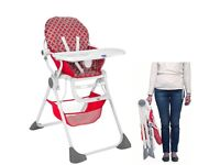 Chicco Pocket Lunch Highchair-Red Wave