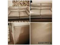 Grey Leather Modular Sofa