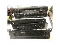 Car radios job lot 3x BMW business, CLARION PU-2471A(J), BLAUPUNKT BOSCH GRUPPE