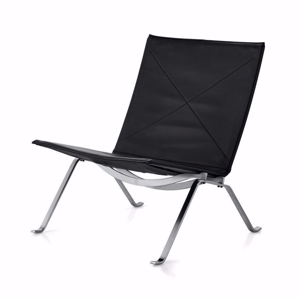 Design Modern Retro Black Leather LoungeChair PK22 Poul Kjaerholm style CAN DEL View Collect Welcome