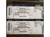 2 x Arcade fire tickets, Manchester April 8th