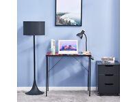 Glass desk, rainbow coloured. Free. Good condition.