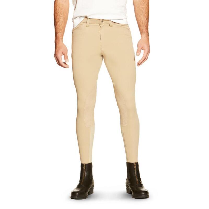 Ariat Mens Heritage Front Zip Knee Patch Breech - Walnut(Brown) * NEW *