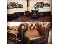ORIGINAL Vintage Chesterfield Suite - PROFESSIONALLY RESTORED!
