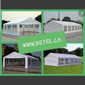 BRAND NEW || COMPLETE STEEL PE WEDDING PARTY EVENT TENTS || FREE DELIVERY