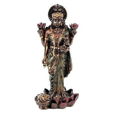 Small Lakshmi Statue 3  Standing Hindu Indian Wealth Goddess New Resin Laxmi