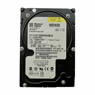 """WD 40GB WD400BB 7200RPM ATA100/EIDE PATA 3.5"""" Desktop HDD Hard Drive"""