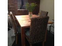 Solid Oak Extending Dining Table & Chairs