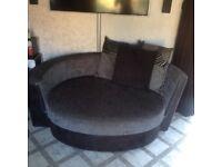Dfs 4 seater sofa & cuddler seat