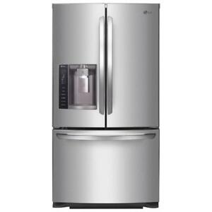 "LG 35.75"" 26.8 Cu. Ft. 3-Door French Door Refrigerator (LFX28968ST) - Stainless Steel"