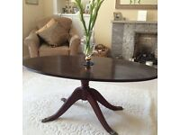 Mahogany coffee table and side table very good condition.