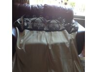 Black and gold eyelet curtains