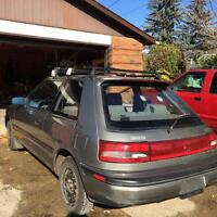 1993 Mazda 323 with winter tires