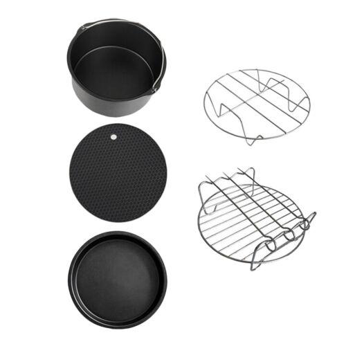 Accessori per friggitrice ad aria, piatto per gabbie per friggere Set di