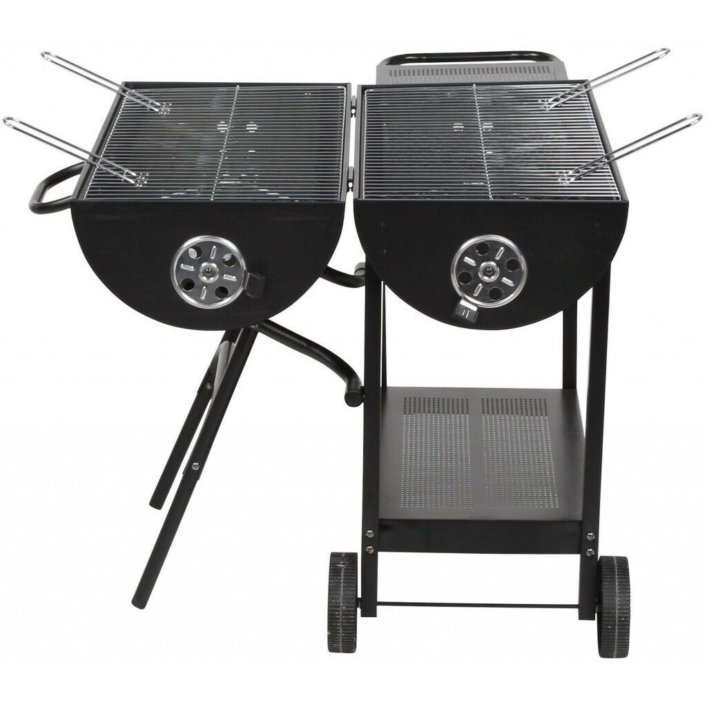 BBQ Party Set Includes: Charcoal Barbecue Grill, Tools, Table, Pop Up Gazebo